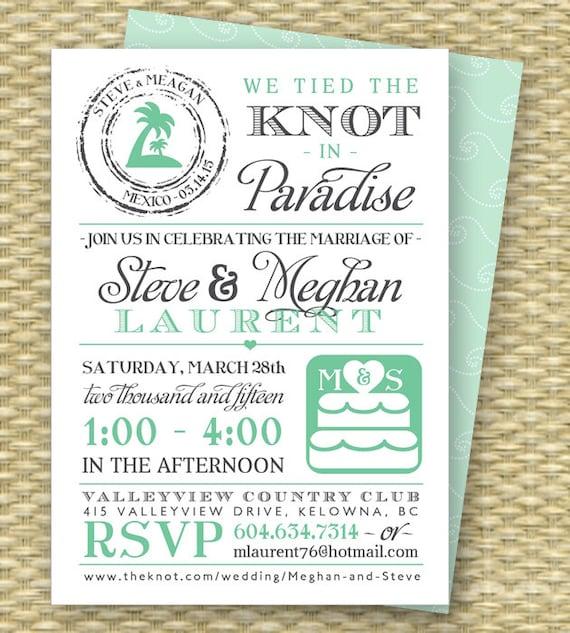 Destination Wedding Invitation Post-Destination Wedding