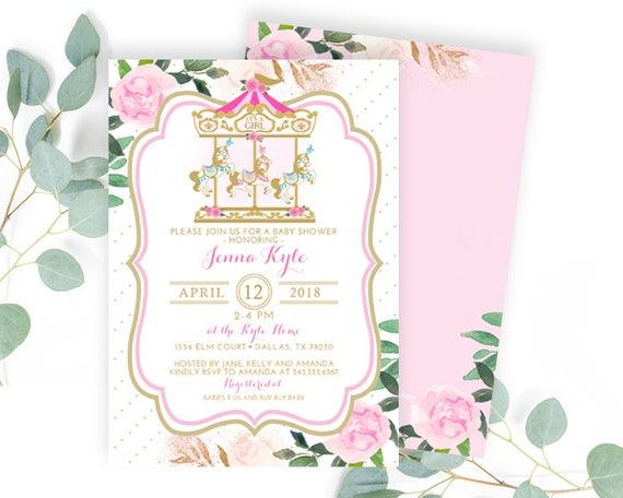 Baby Girl Shower Invitation Printable shower invitation Vintage Umbrella Baby Shower Invitation Umbrella Floral Baby Shower Invite