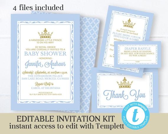 Royal Baby Shower Invitation Template from i.etsystatic.com
