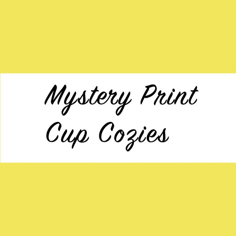 Mystery Coffee Cozy Iced Coffee Cozy Cup Cozy Drink Sleeve image 0