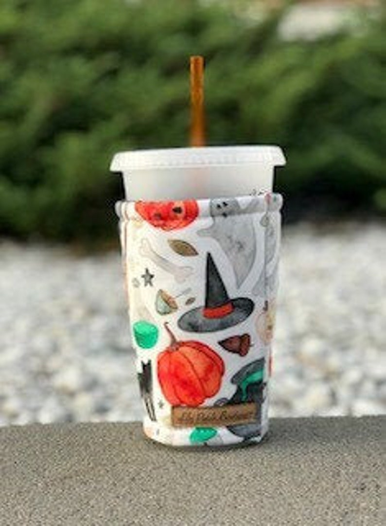 Halloween Witches Brew Coffee Cozy Iced Coffee Cozy Cup image 0