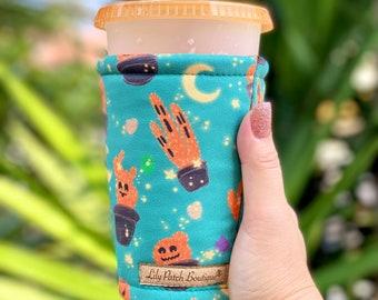 Halloween Cacti, Cactus Coffee Cozy, Iced Coffee Cozy, Cup Cozy, Drink Sleeve, Can Cozy, Soda S