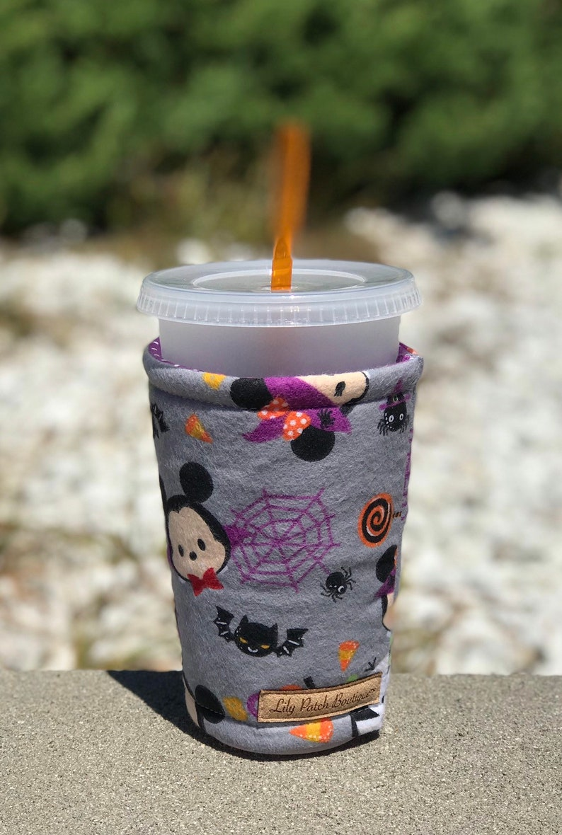 D Halloween Flannel  Coffee Cozy Iced Coffee Cozy Cup Cozy image 0