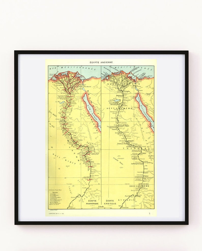 graphic about Ancient Egypt Map Printable identified as 1936 Historic Egypt map, Common Egypt map, Historical Egypt reward Egytologist present Egypt decor Egypt poster archeologist present for Historian reward