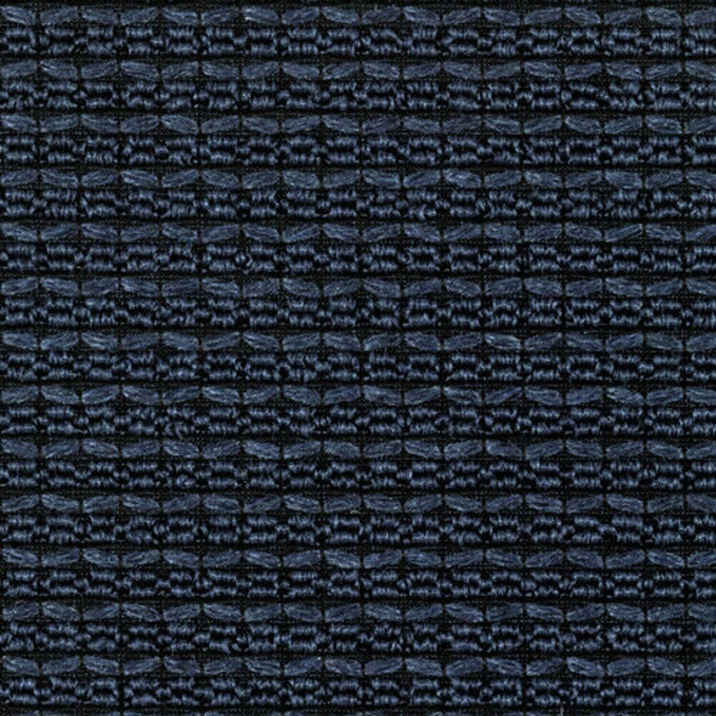 AX 10 yds Knoll Totem Lapis Blue Textured Stripe Upholstery Fabric K15618