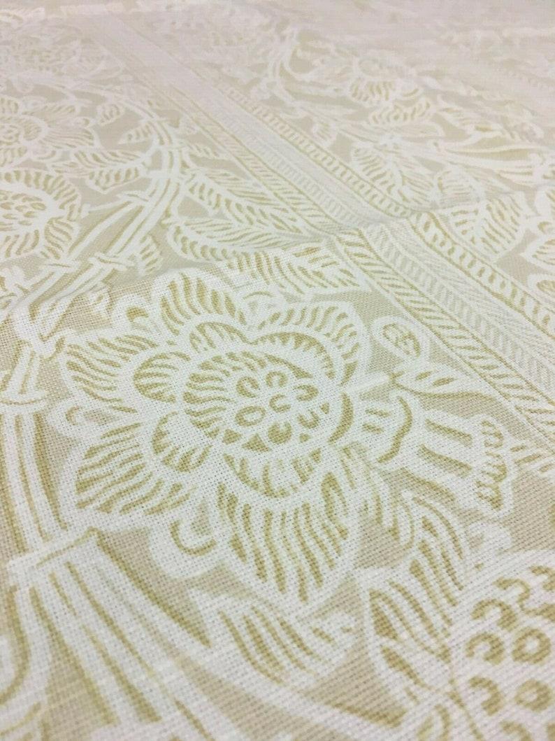 1.375 yds Creation Baumann Contemporary Floral Stripe Sand /& Cream Multi-Purpose Fabric
