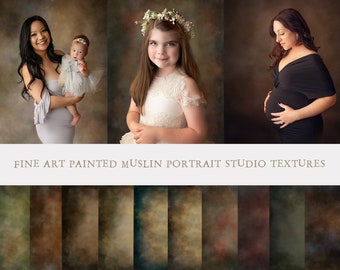 20 Portrait Photo Texture, Muslin Textures, Photo Background, Digital backdrops, Studio Portrait, Photoshop overlay