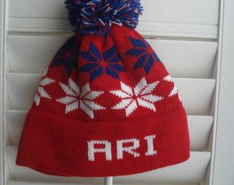 18bb9d7d8fb Personalized knit hat - Ari