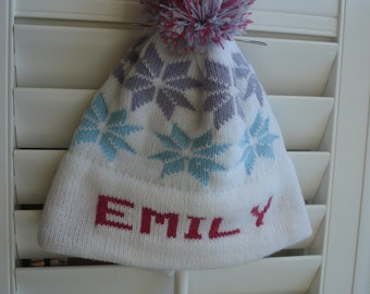 Personalized knit hat - Emily 2b2184842a44