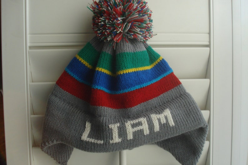 5bc4dea65f Personalized knit hat Liam Jake or Parker