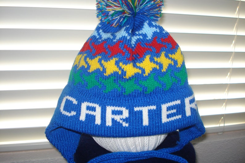 b9354f14d7 Personalized knit hat CARTER or LOGAN