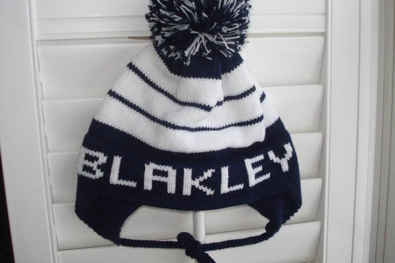 afa44250d5 Personalized knit hat Blakley Isaac Jackson or Everett