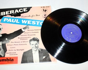 Liberace and the Paul Weston Orchestra - Concertos for You Columbia Record Album; Mid Century Movie Songs, Piano Music