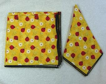 Everyday Eco Friendly Reusable Cotton Napkins 14 x 14 Set of 6 Ready to Ship