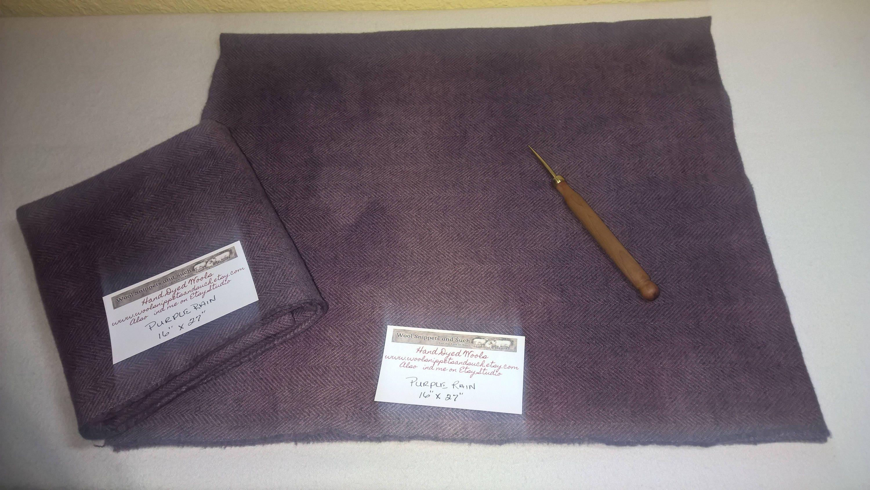 New Purple Rain Wool Fabric Fat Quarter Rug Hooking Wool Rug Making Rug Supplies Doll Making