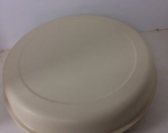 """tupperware serving tray vintage large 12"""" serving tray snack tray"""