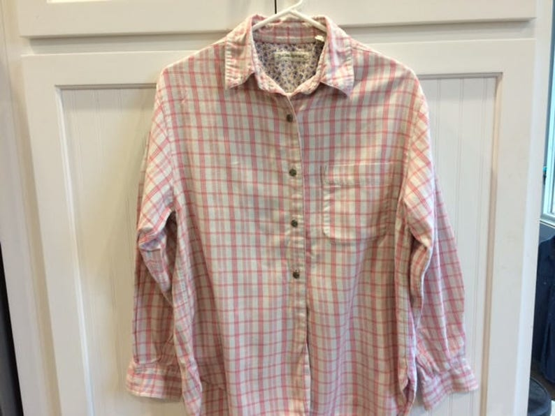 276774a96 Banana republic flannel shirt women size small vintage flannel   Etsy