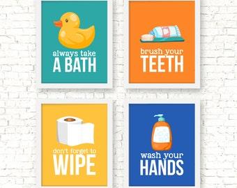 Kids bathroom decor | Etsy