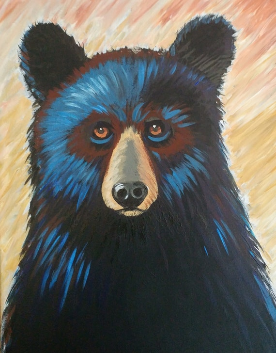 Sip-N-Paint Bear Class at Cork & Craft West Asheville Wednesday January 30th 2019 6pm to 8:30