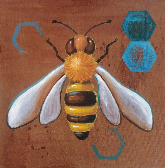 Sip-n-Paint Bee Class Saturday April 13th 1 to 3:30pm ArtSphere Black Mountain