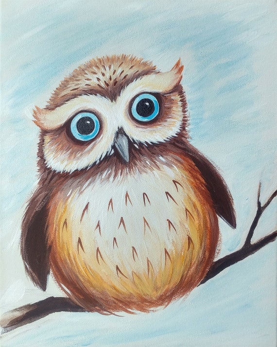Owl Paint Class Saturday January 19th 2pm at ArtSphere