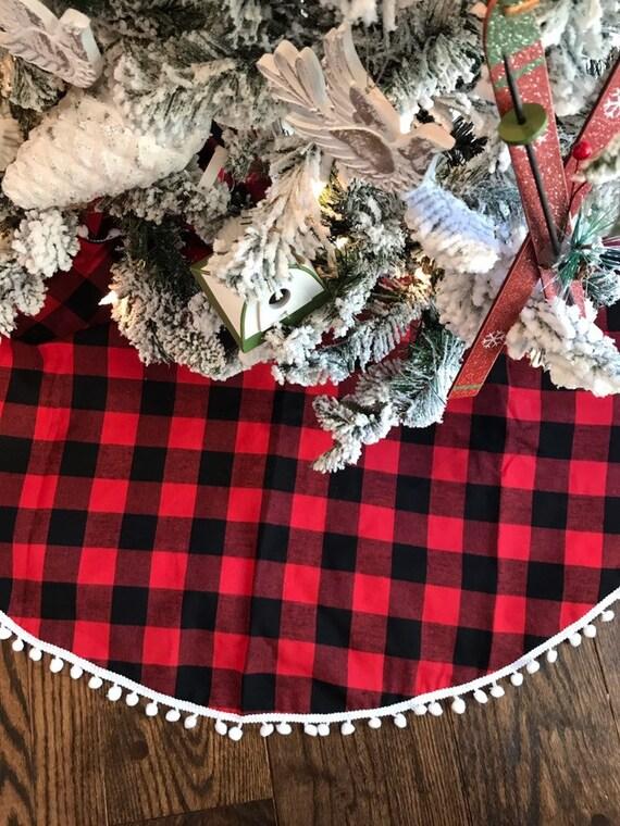 Buffalo Check Christmas Tree Decor.Christmas Tree Skirt Check Black Tree Skirt Christmas Plaid Tree Skirt Buffalo Plaid Christmas Tree Skirt Buffalo Plaid Decor