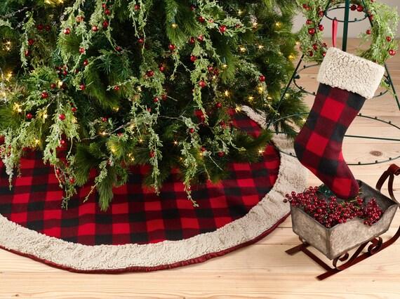 Buffalo Check Christmas Tree Decor.Christmas Tree Skirt Check Red Tree Skirt Christmas Plaid Tree Skirt Buffalo Plaid Christmas Tree Decor Red Black Buffalo Plaid Home