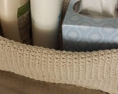 Natural Crocheted Rectangular Spa Basket