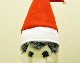Christmas Pet Santa Hat Medium  Photo Prop Santa Hat  Free Shipping