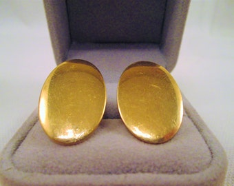 Vintage Anson 12K GF Gold Cuff Links 1960's Men's Jewelry Oval Cufflinks Accessory Gift