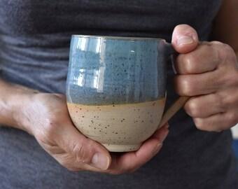 Pottery Coffee Mug, READY TO SHIP, Ceramic Mugs Set, Ceramic mug, Large Turquoise Pottery mug, Coffee /Tea Stoneware cup, Ceramic Coffee mug