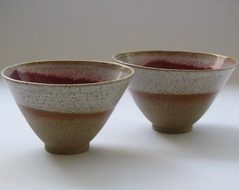 Handmade Ceramic Nesting Bowls, Serving Soup / Cereals Bowl, Stoneware Serving Bowl, Condiment bowls,pottery dish, dip stoneware bowls
