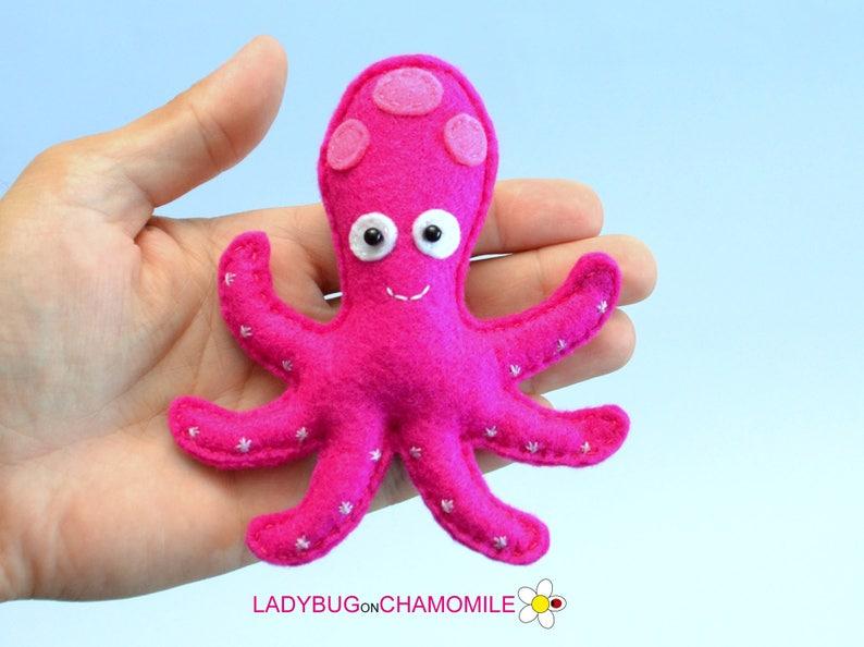 Felt OCTOPUS Octopus gift,Nursery decor home decor cute Octopus,Octopus toy Sea creature stuffed felt Octopus magnet or ornament
