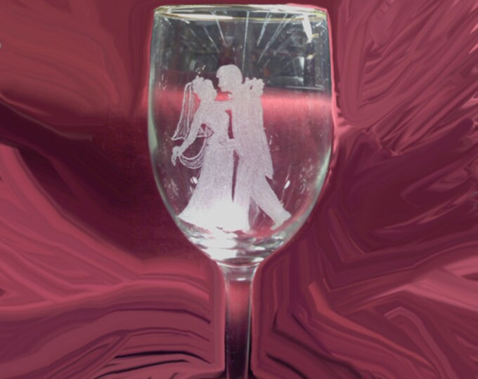 Engraved Wedding Toasting Glasses