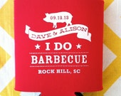 I Do Barbecue Rehearsal Dinner wedding favors, can coolers beverage insulators for wedding, BBQ can coolies (100 count)