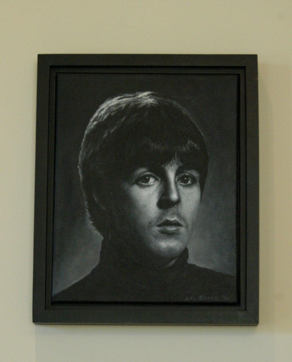 Original Gemälde auf Leinwand PAUL eingerahmt 16 x 13 Zoll | Etsy