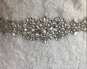 3118b9703e Wedding dress belt bridal gown sash bridal bling jeweled   Etsy