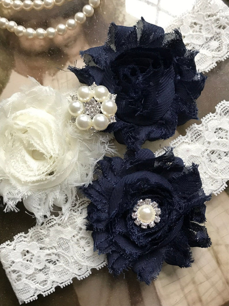 a62a922c177 Wedding Garter bridal Garter wedding Garter set navy Garter