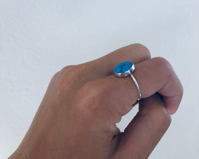 Royal Blue turquoise ring Colbalt Turquoise Ring tropical water turquoise ring tear drop turquoise ring