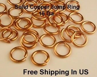CHAIN MAILL 18GA WIRE  4MM O//D 485 pcs 1 OZ GENUINE COPPER OPEN JUMP RING
