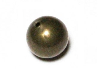 Hole 2.0 MM 12 MM  Smooth Brass Large Round Seamless Hollow Beads 100 Pcs