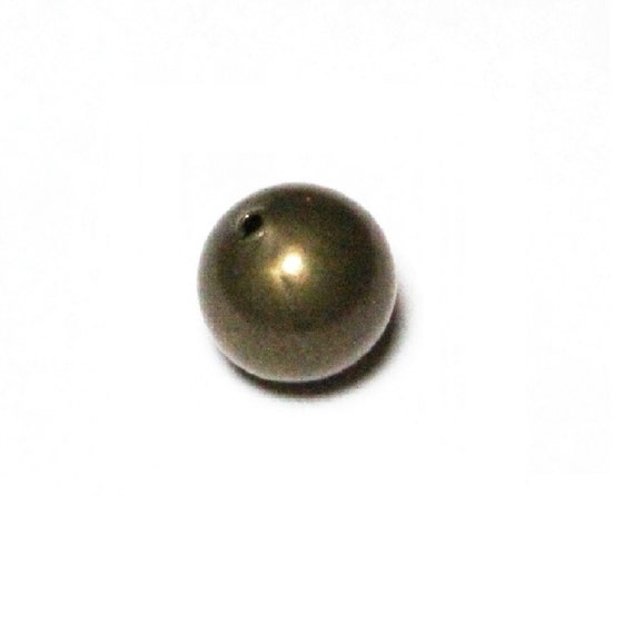Of 100 Free Shipping In US 2.5 MM Vintage Brass Seamless Beads Hole 1.2 MM  Pkg