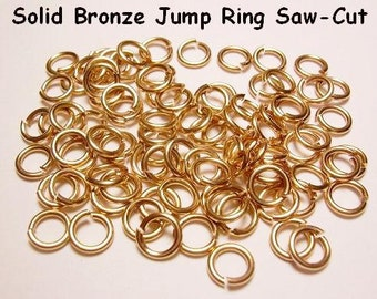 5 MM BRONZE Jump Ring 20ga wire 260 pcs. .5 Oz Saw Cut bright solid bronze