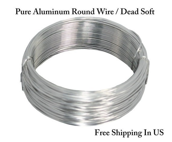 Pure aluminum wire dead soft choose gauge 20 ga 8 ga etsy image 0 greentooth Image collections