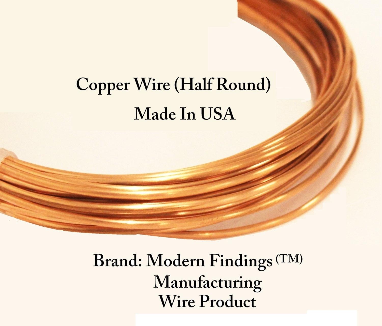 Half Round Copper Wire Dead Soft Choose 121416&18 Ga | Etsy