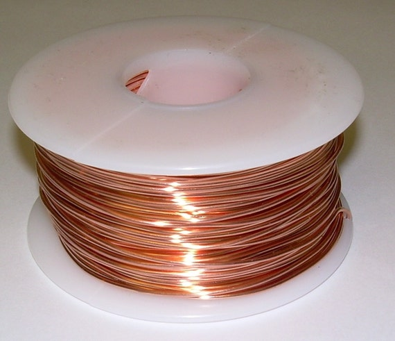 RED BRASS ROUND WIRE 24 GA  550 FT 10 OZ  SOFT  SOLID WIRE WRAPPING ON SPOOL