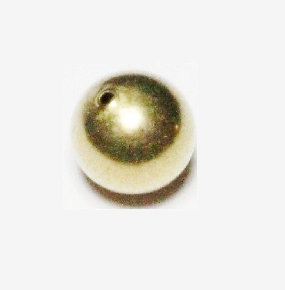 12 MM Smooth  Vintage Brass Round Seamless Hollow Beads 20 Pcs Hole 2.0 MM