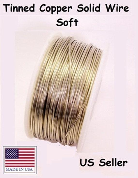 Dead Soft Jewelry Making Wire 14 Ga Solid Bare Copper Wire 27 Ft - 5 Oz Spool
