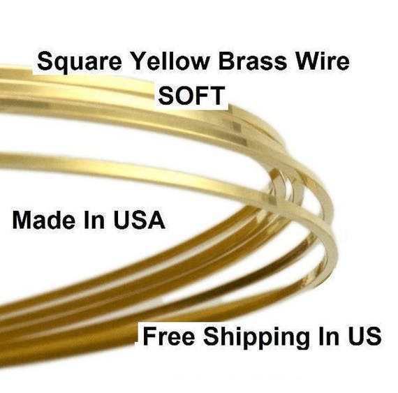 Raw Yellow Solid #260 Brass HALF HARD 12 GA Brass Wire 18 FT.// 5 OZ Spool