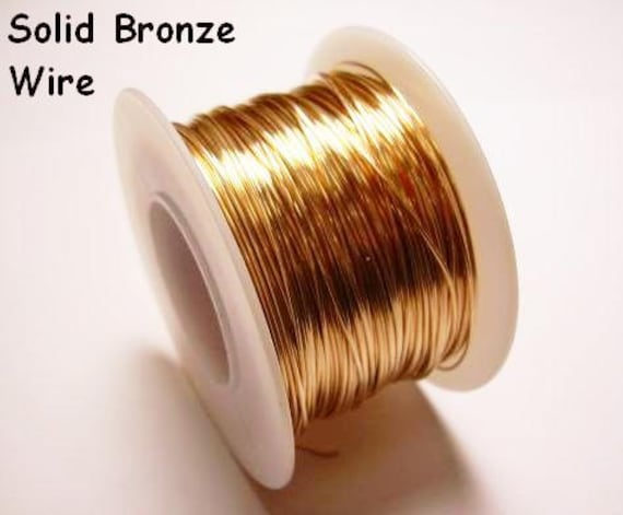 1//2 OZ  SOFT  SOLID WIRE WRAPPING ON SPOOL RED BRASS ROUND WIRE 26 GA 45 FT